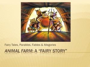 Orwell's Animal Farm: It's original title